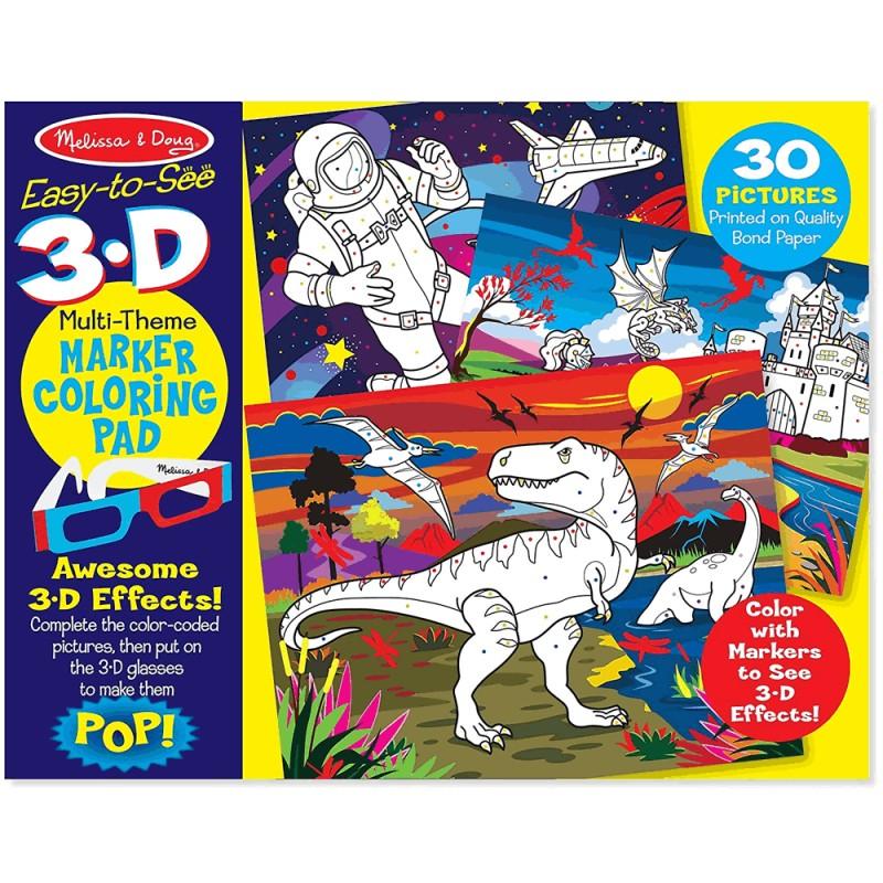 3D Coloring Book - Boy - LeKidz