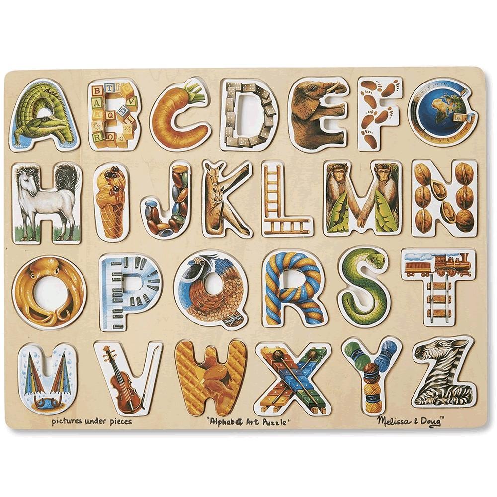 alphabet art wooden puzzle